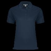 Ladies Easycare Navy Pique Polo-Select a Major