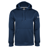 Under Armour Navy Performance Sweats Team Hoodie-Select-A-Logo