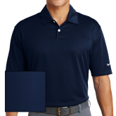 Nike Dri Fit Navy Pebble Texture Sport Shirt-Select-A-Logo