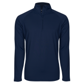 Sport Wick Stretch Navy 1/2 Zip Pullover-Select-A-Logo