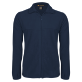 Fleece Full Zip Navy Jacket-Select-A-Logo