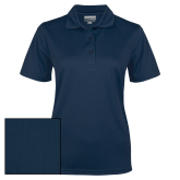Ladies Navy Dry Mesh Polo-Select-A-Logo