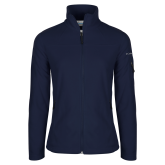 Dixie Columbia Ladies Full Zip Navy Fleece Jacket-Select-A-Logo