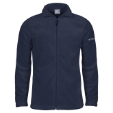 Columbia Full Zip Navy Fleece Jacket-Select-A-Logo