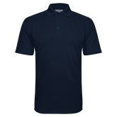 Navy Textured Saddle Shoulder Polo-Select-A-Logo