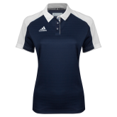 Ladies Adidas Modern Navy Varsity Polo-Select-A-Logo