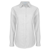 Ladies White Oxford Shirt-Select-A-Logo