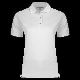 Ladies Easycare White Pique Polo-Select-A-Logo