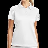 Ladies Nike Dri Fit White Pebble Texture Sport Shirt-Select-A-Logo