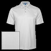 White Performance Fine Jacquard Polo-Signature Logos