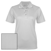 Ladies White Dry Mesh Polo-Select-A-Logo