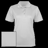 Ladies White Dry Mesh Polo-Select-A-Sport