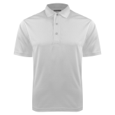 White Dry Mesh Polo-Select A Logo
