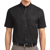 Black Twill Button Down Short Sleeve-Select-A-Logo