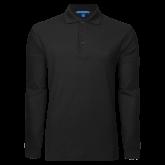 Black Long Sleeve Polo-Select-A-Logo