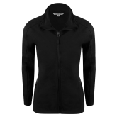 Ladies Black Softshell Jacket-Signature Logos