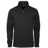 Black Slub Fleece 1/4 Zip Pullover-Select-A-Logo