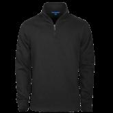 Black Rib 1/4 Zip Pullover-Select-A-Logo