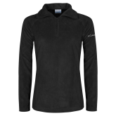 Columbia Ladies Half Zip Black Fleece Jacket-Select-A-Logo