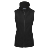Columbia Ladies Full Zip Black Fleece Vest-Select-A-Logo