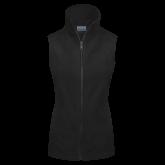 Columbia Ladies Full Zip Black Fleece Vest-Select-A-Logo