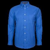 Mens Royal Oxford Long Sleeve Shirt-Select-A-Logo