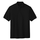 Black Pique Polo-Select-A-Logo