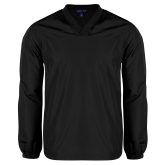 V Neck Black Raglan Windshirt-Select-A-Logo