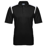 Black Textured Gameday Polo-Select-A-Logo