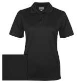 Ladies Black Dry Mesh Polo-Select-A-Logo
