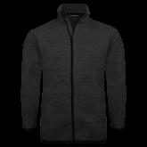 Black Heather Fleece Jacket-Select-A-Logo