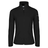 Columbia Ladies Full Zip Black Fleece Jacket-Signature Logos