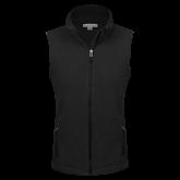 Ladies Fleece Full Zip Black Vest-Select-A-Logo