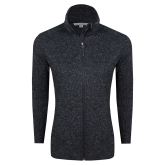 Black Heather Ladies Fleece Jacket-Select-A-Logo