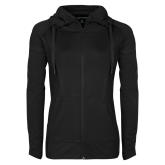 Ladies Sport Wick Stretch Full Zip Black Jacket-Select-A-Logo