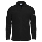 Columbia Full Zip Black Fleece Jacket-Select A Logo Signature Logo