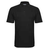 Black Textured Saddle Shoulder Polo-Select-A-Logo