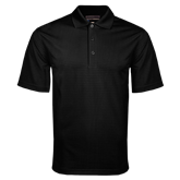 College Black Mini Stripe Polo-Select-A-Logo