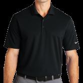 Nike Golf Dri Fit Black Micro Pique Polo-Select-A-Logo