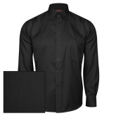 Red House Black Herringbone Non Iron Long Sleeve Shirt-Select-A-Logo