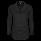 Ladies Red House Black Herringbone Non Iron Long Sleeve Shirt-Select-A-Logo