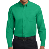 Kelly Green Twill Button Down Long Sleeve-Select-A-Logo