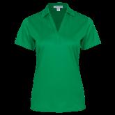 Ladies Kelly Green Performance Fine Jacquard Polo-Select-A-Logo