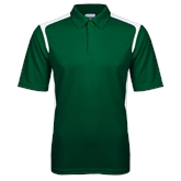 Dark Green Textured Gameday Polo-Select-A-Logo