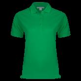 Ladies Easycare Kelly Green Pique Polo-Select-A-Logo