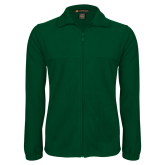 Fleece Full Zip Dark Green Jacket-Select-A-Logo