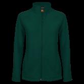 Ladies Fleece Full Zip Dark Green Jacket-Select-A-Logo