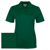 Ladies Dark Green Dry Mesh Polo-Select-A-Logo