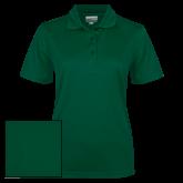 Ladies Dark Green Dry Mesh Polo-Select-A-Logo