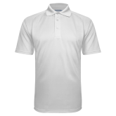 White Textured Saddle Shoulder Polo-Select a Jurisdiction